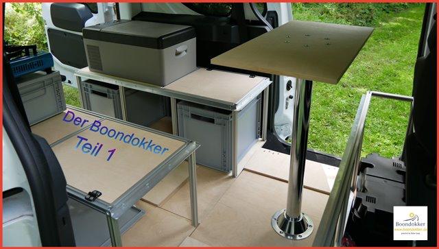 Dokker #Minicamper DIY Ausbau mit Aluprofilen in #Modulbauweise