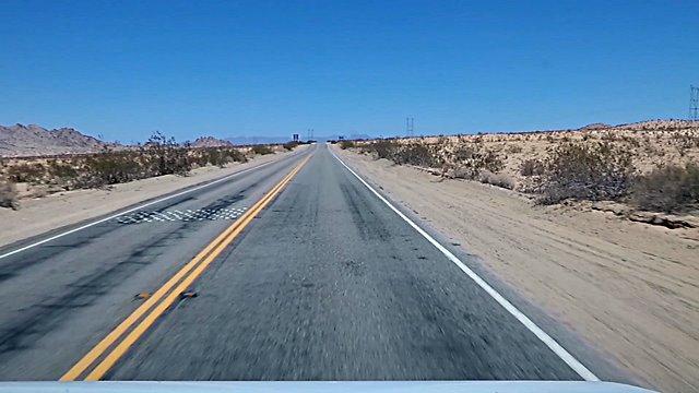 Durch die Mojave Desert auf der Route 66